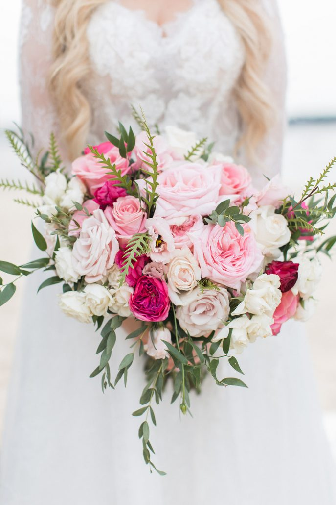 Mary and Brian Wedding - Brides Bouquet - Crescent Beach Club - Amy Rizzuto Photography