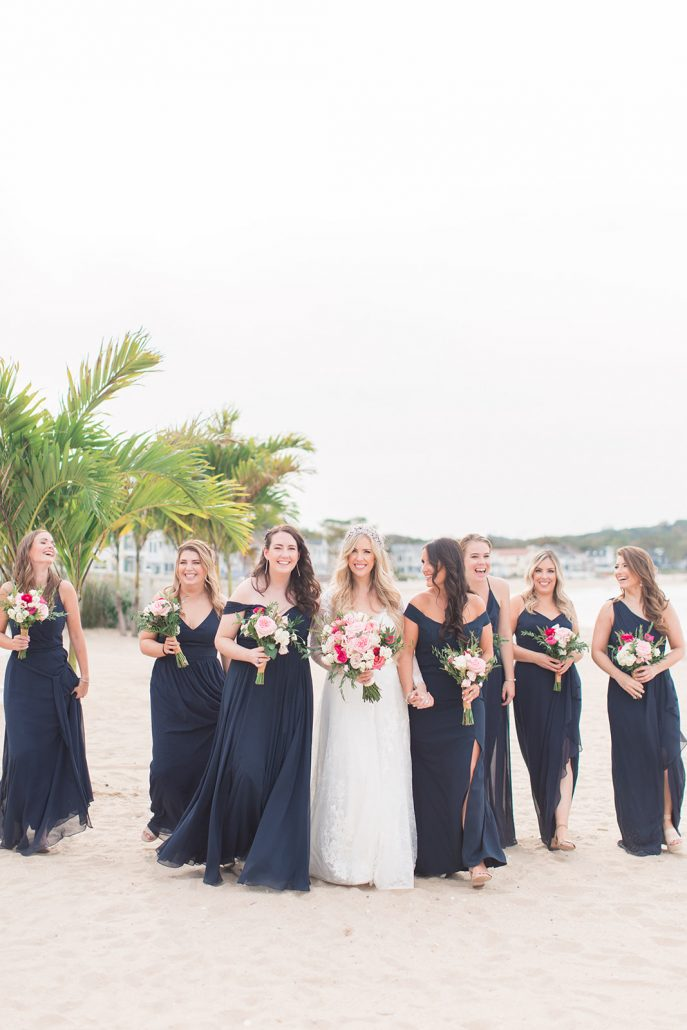 Mary and Brian Wedding - Bride and Bridesmaids Bouquet - Crescent Beach Club - Amy Rizzuto Photography