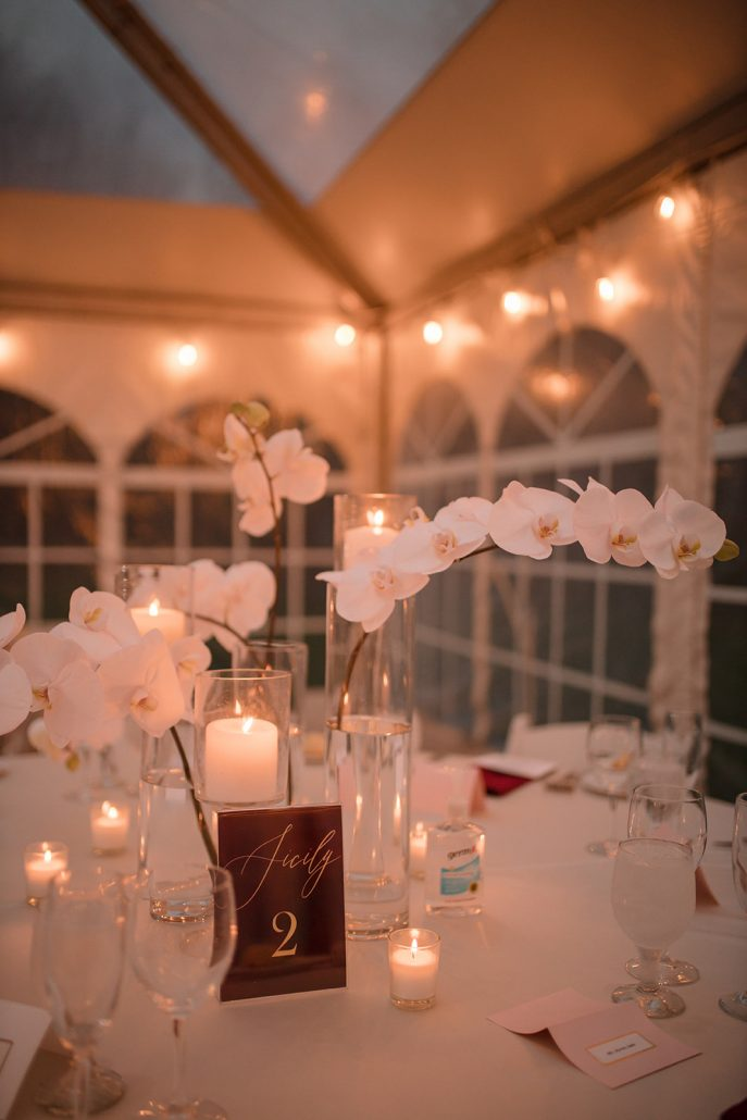 Cara and Vince Wedding - Centerpiece - The Estate at Creekside - Laura Huertas Photography