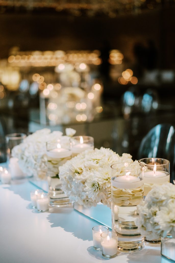 Lauren & Lou Wedding - Lounge Centerpiece Detail - Natirar - Pat Furey Photography