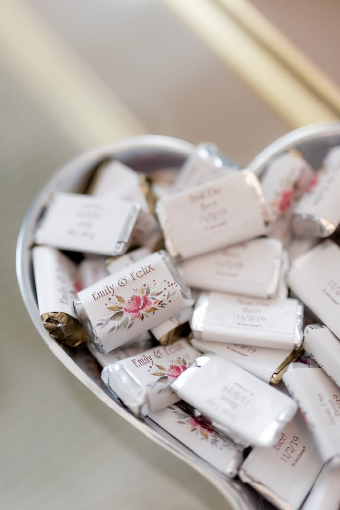 Emily and Felix Wedding - Personalized Wedding Chocolates - 1 Hotel Brooklyn Bridge - Susan Shek Photography