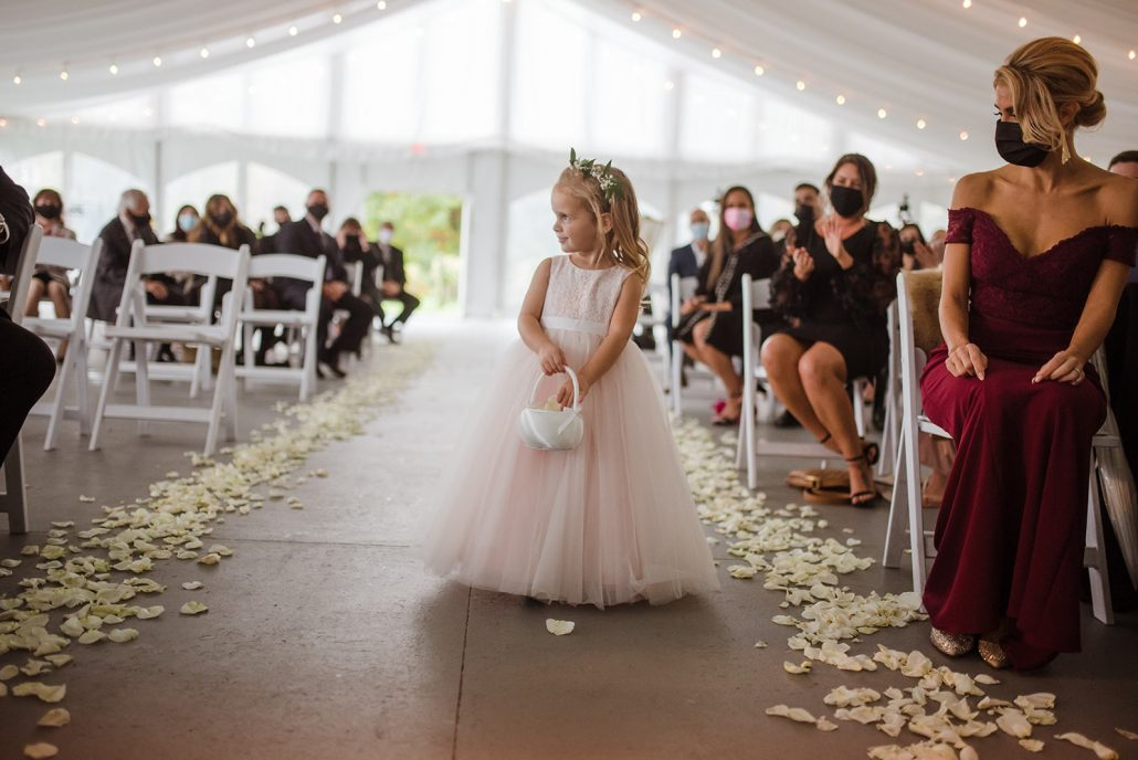 Cara and Vince Wedding - Flower Girl - Laura Huertas Photography