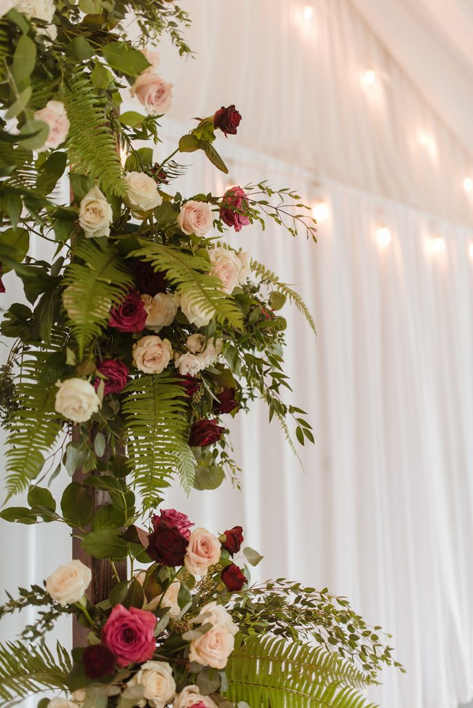 Cara and Vince Wedding - Flower Arch Detail - Laura Huertas Photography