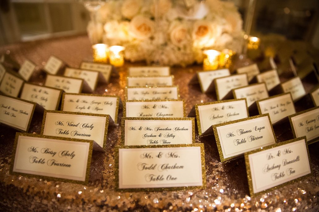 Amanda and Thomas Wedding - Escort Card Table Detail - Essex House - Kelly Guenther Photography