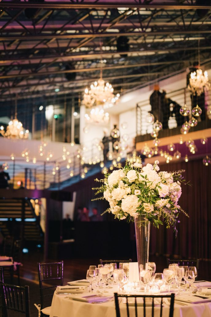 Connie and Alek Wedding - High Centerpiece Dance Floor Installation - Tribeca Rooftop - Joseph Lin Photography
