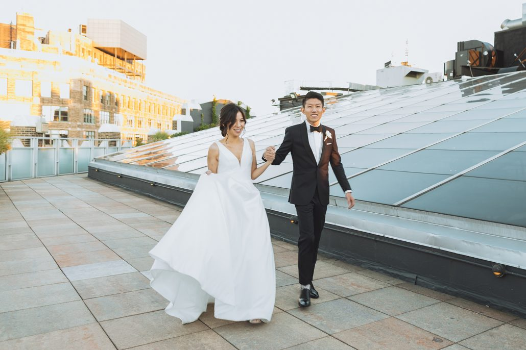 Elaine and LiRen Wedding - Bride and Groom - Tribeca Rooftop - Jaylim Studio